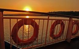 在达达尼尔海峡,土耳其的日出 库存图片