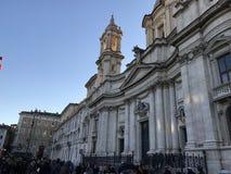 在过去的Sant ` Agnese -罗马 库存图片