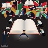 在过去,纸` s书是重要提供信息 免版税库存照片