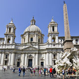 在过去,罗马的Sant'Agnese 免版税库存照片