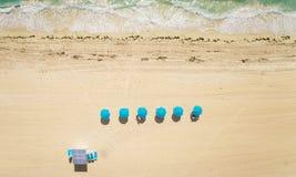在迈阿密海滩的空中顶视图 免版税库存图片