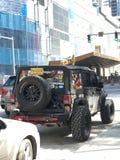在迈阿密,佛罗里达街道上的吉普  库存图片