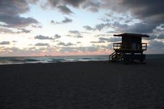 在迈阿密Beach的日出 图库摄影