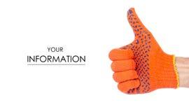 在运作的修造手套样式的男性手 免版税库存图片