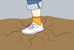 在运动鞋的脚 库存图片
