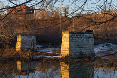 在运河的下午 免版税库存图片