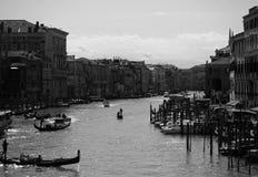 在运河的剪影 免版税图库摄影