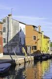 在运河的小船 库存图片