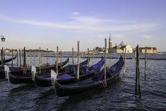 在运河的小船 图库摄影