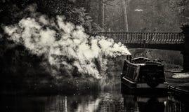 在运河的早晨 图库摄影