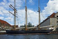 私有游艇在哥本哈根 库存照片