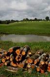 在运河du Nivernais, velo, Chatillon en Bazois上 免版税库存图片