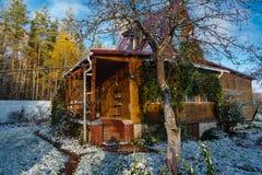 在这个季节的第一雪 库存照片