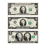 在这张图表, 1个和2美金mereged 库存照片
