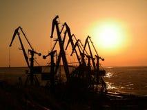 在远东的日落 免版税库存照片