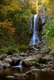 在远东Taiga的瀑布 库存图片