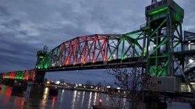 在连接点桥梁的冬天 免版税库存照片