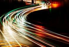 在连接点的交通在城市 免版税库存图片