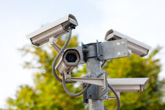 在连接点的CCTV照相机 免版税库存照片