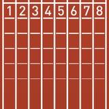 在连续轨道的终点线 向量例证