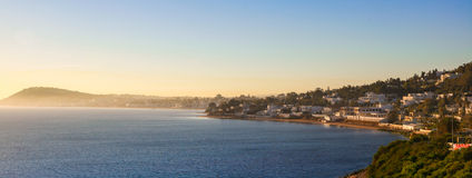 在迦太基的港口,突尼斯的日出 免版税库存图片