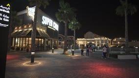 在迪拜公园的Riverland和手段库存英尺长度录影 股票录像