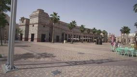 在迪拜公园的Riverland和手段库存英尺长度录影 影视素材