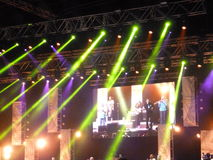 在迪拜爵士节的桑塔纳音乐会 库存图片
