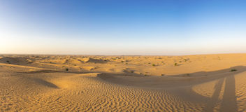 在迪拜附近的沙丘沙漠在阿拉伯联合酋长国 库存图片