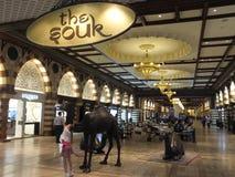 在迪拜购物中心的金子Souk在迪拜,阿拉伯联合酋长国 库存图片