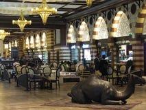 在迪拜购物中心的金子Souk在迪拜,阿拉伯联合酋长国 免版税库存照片