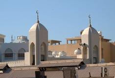 在迪拜1的屋顶的看法 免版税库存照片