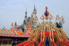 在迪斯尼世界的城堡在上海 图库摄影