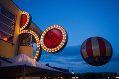 在迪斯尼乐园巴黎的咖啡馆Mickey 免版税库存照片