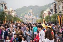 在迪斯尼乐园,香港的灰姑娘城堡 库存照片