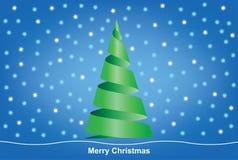 在迷离背景的圣诞快乐结构树 库存照片