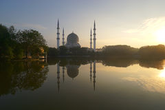 在迷离清真寺的日出 免版税库存图片