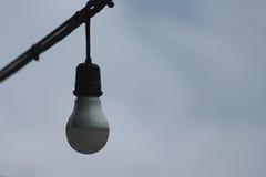 在迷离背景的电灯泡 免版税图库摄影