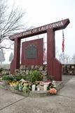 在退伍军人的纪念品回家加利福尼亚在Yountville, Calif 免版税库存照片