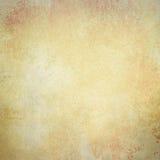在退色的金属褐色金子的老纸背景和与葡萄酒纹理的白色颜色 免版税库存照片