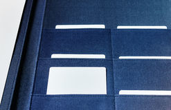 在选择的文件夹的空白的名片 库存图片