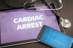 在选项的心搏停止(心脏病)诊断医疗概念 库存图片