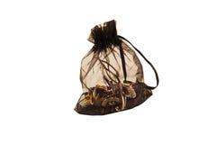 在透明包装的袋子装饰 免版税库存照片