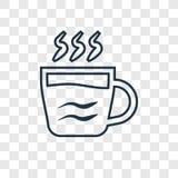 在透明后面隔绝的浓咖啡概念传染媒介线性象 皇族释放例证