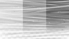 在透明塑料套纹理的真正的水下落 皇族释放例证