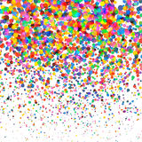 在透明方形的背景隔绝的五颜六色的五彩纸屑 圣诞节,生日,周年晚会概念 五彩纸屑 向量例证