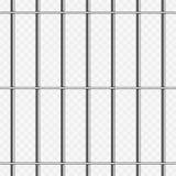 在透明的监狱酒吧 免版税库存图片