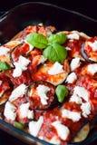 意大利茄子Parmigiana 库存图片