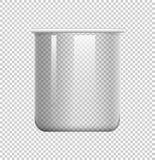 在透明背景的圆的烧杯 向量例证