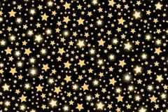 在透明背景的抽象金黄starfall作用样式 库存图片